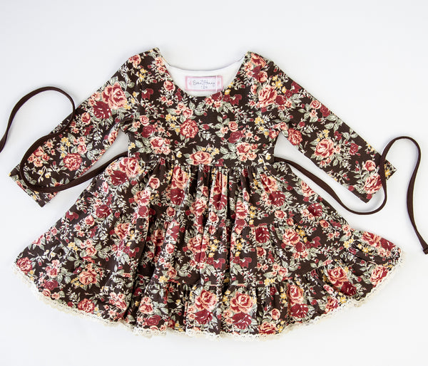 Flair Dress - Floral Lane Brown