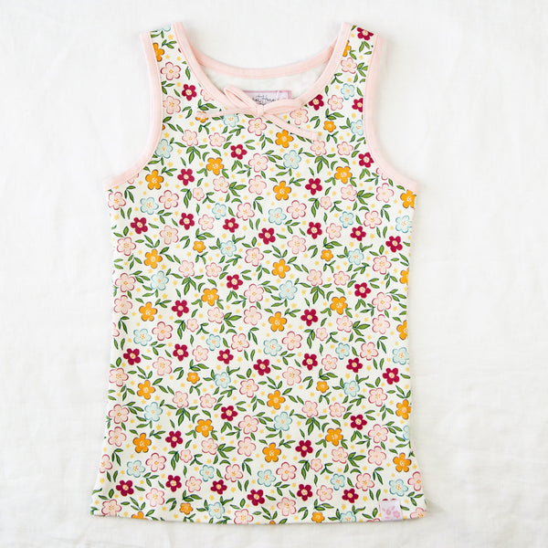 Sleeveless Top - Bubbly Floral
