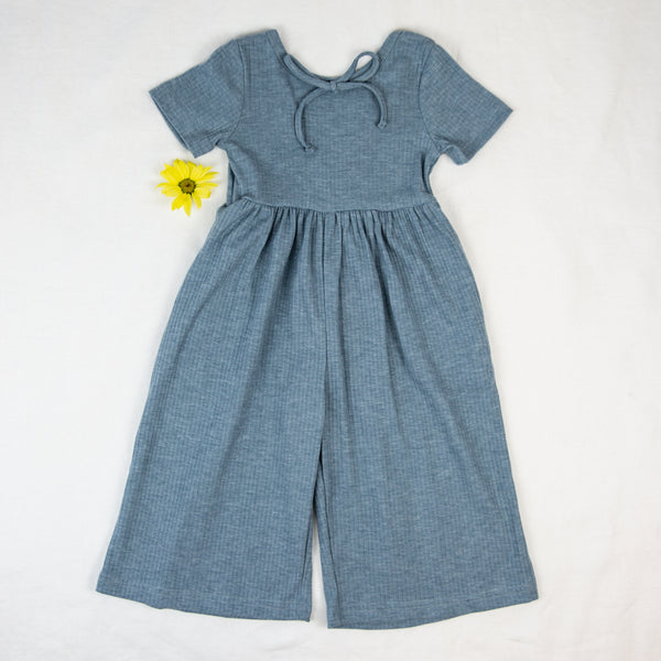 Leggy Romper - Dusty Blue