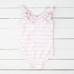Mary One Piece - Striped Soft Pink