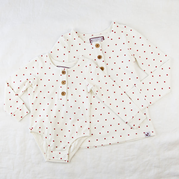 Lanie Layering Top - Scarlet Dot