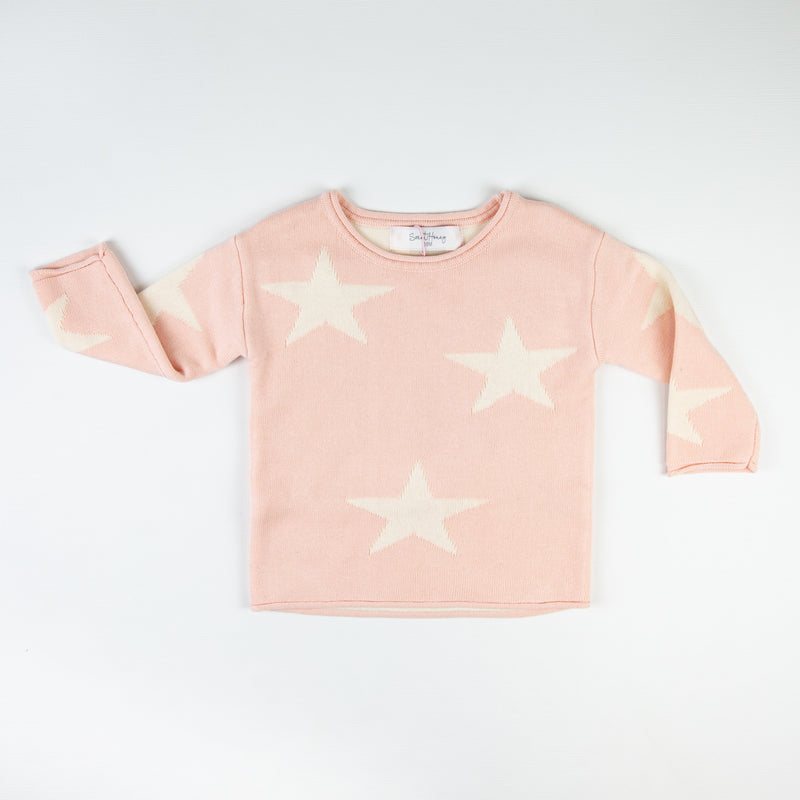 Pullover Sweater - Pink Star