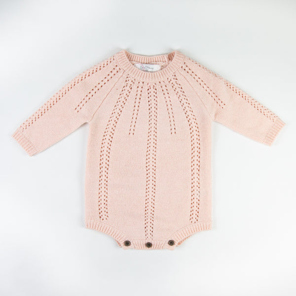 Cableknit Sweater Bodysuit - Rose