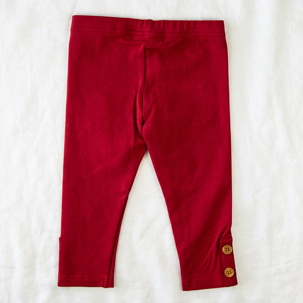 Frankie Leggings - Deep Red