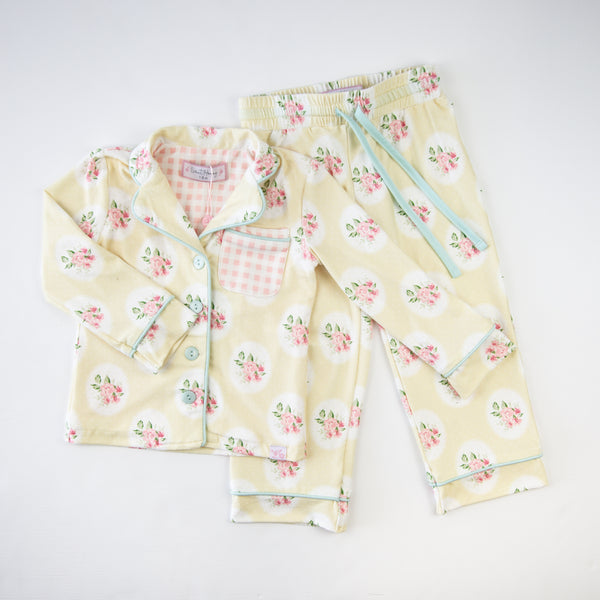 Kid's Cozy PJ - Butter Framed Roses