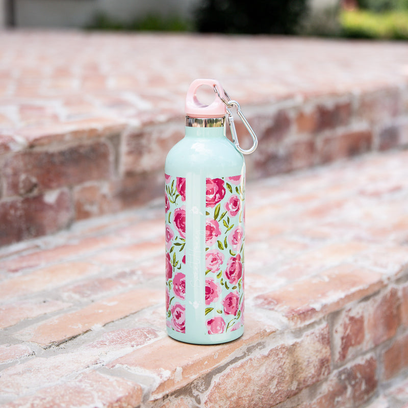Water Bottle - Covered in Roses