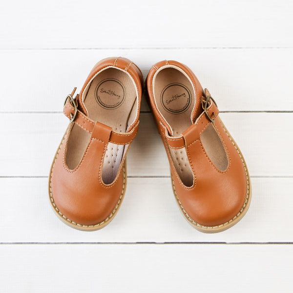 Mary Jane T-Strap - Brown
