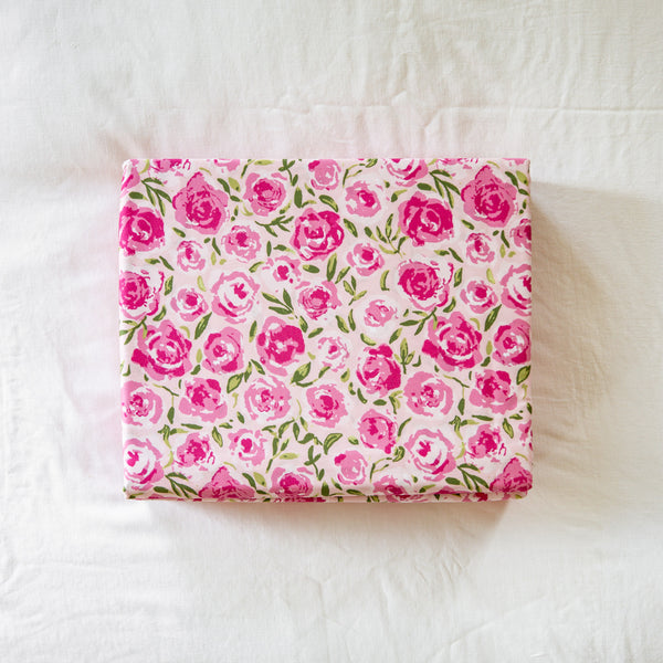 Sheet Set - Covered In Roses Pink