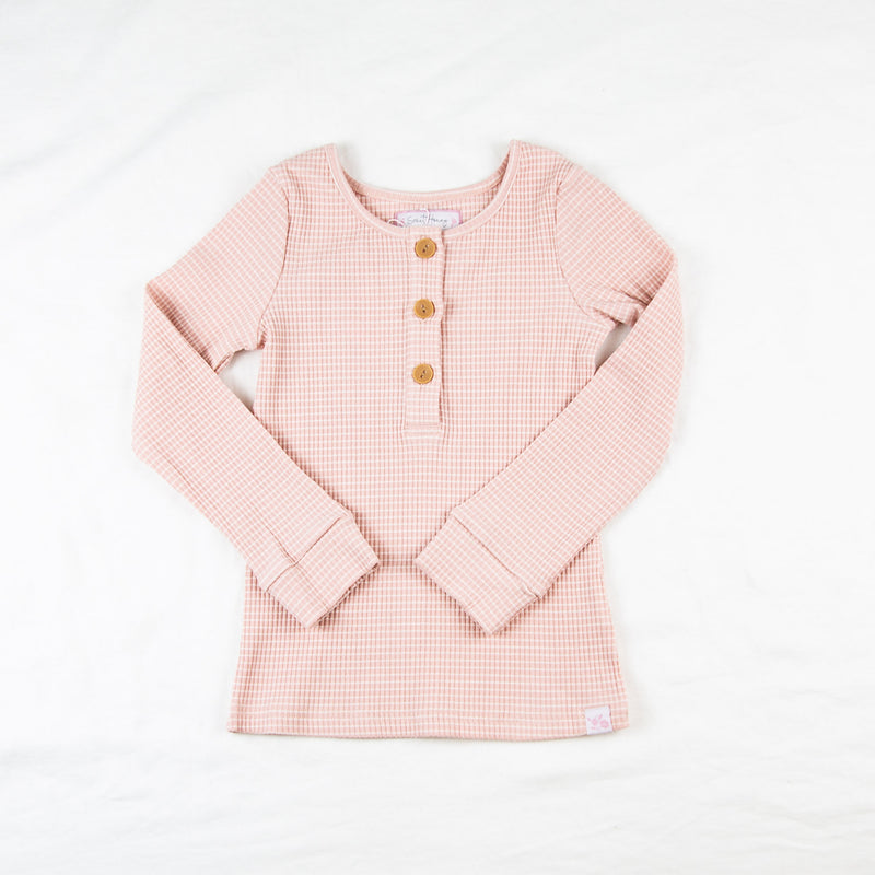 Lanie Layering Top - Ribbed Pink