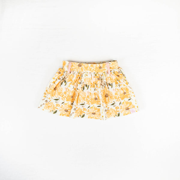 Garden Skort - Golden Poppies