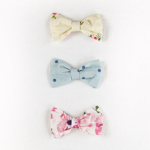 Bow Set Trio - Poppies