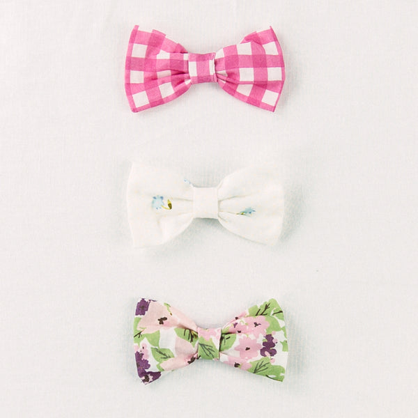 Bow Set Trio - Plummy Floral