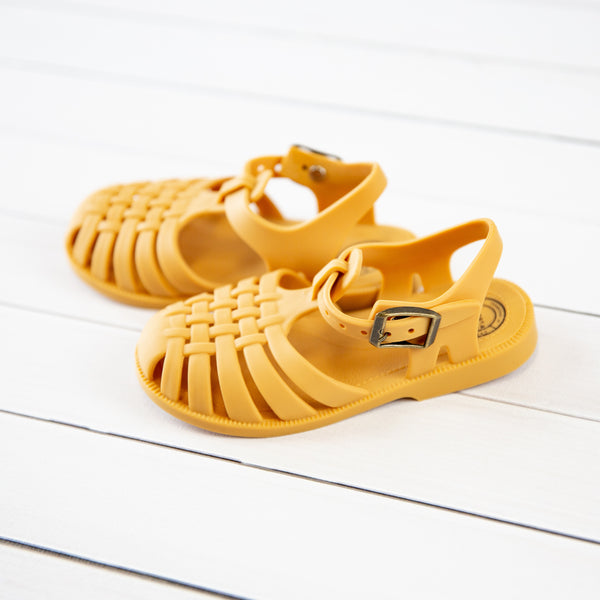 Matte Jelly Sandals - Saffron