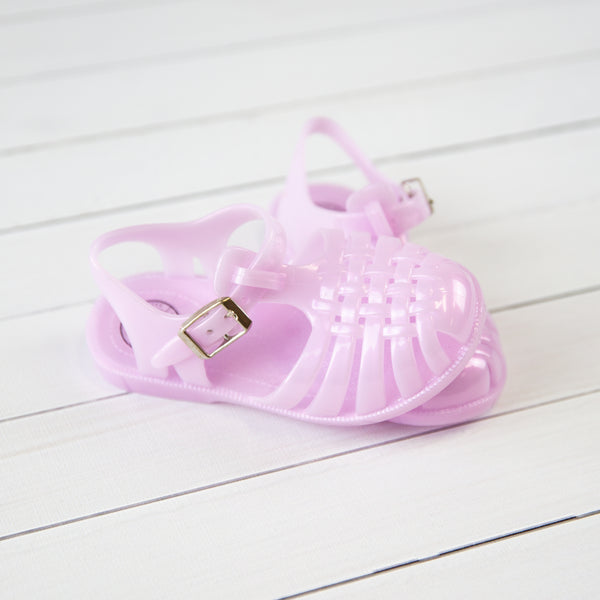 Shimmer Jelly Sandals - Lilac