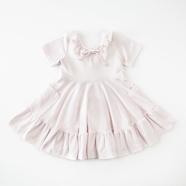 Flair Dress - Berries 'N Cream Stripe