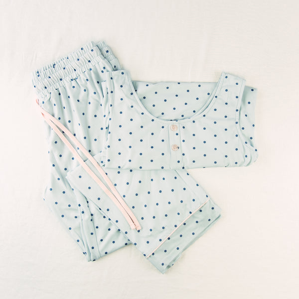 Women's Cozy PJ - Blue Dotty