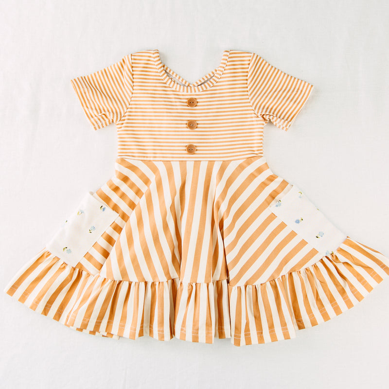 Flair Dress - Simply Mustard