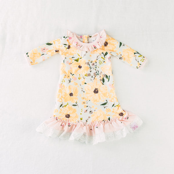 Doll Gown - Golden Poppies