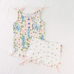 Dreamer Ruffled 2 Piece - Falling Floral