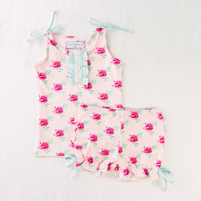 Dreamer Ruffled 2 Piece - Giggle Fit Floral