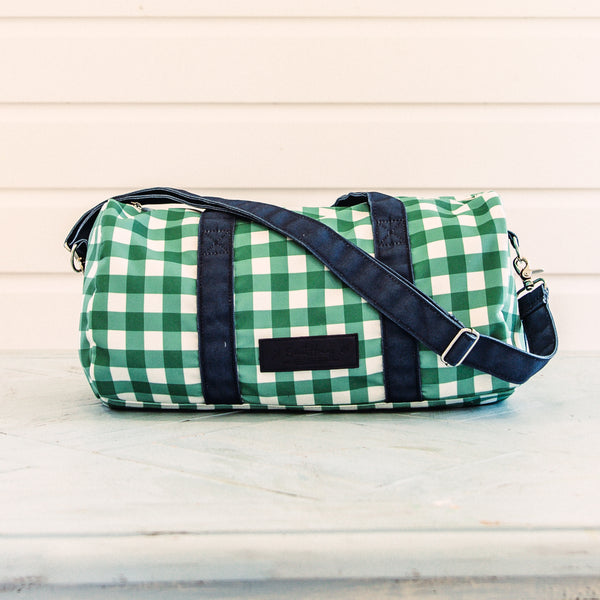 Everyday Duffle - Bright Green Check