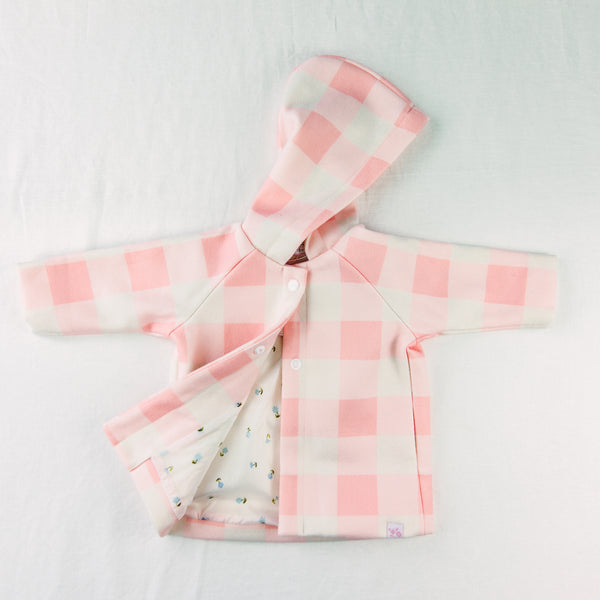 Matilda Coat - Peachy Pink Check