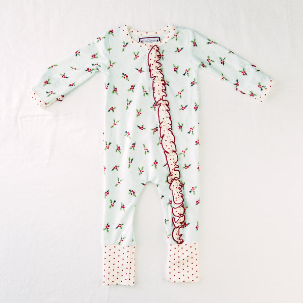 Dreamer Layette - Ruffled Blue Holly