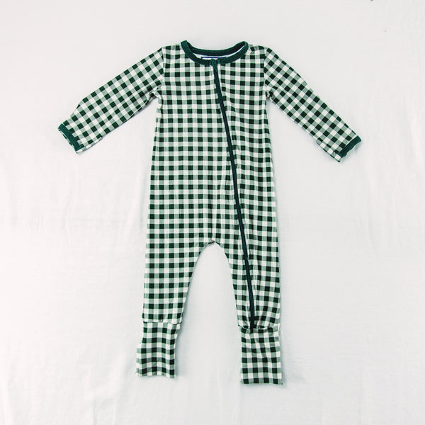 Dreamer Layette - Simply Green Check