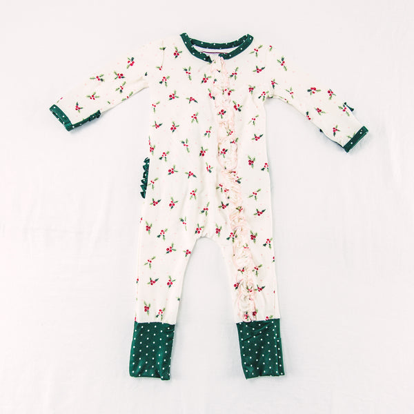 Dreamer Layette - Ruffled Holly Days