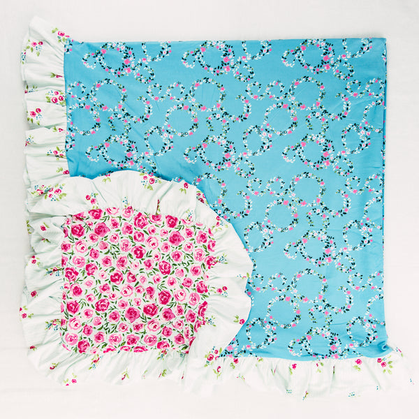 Dreamer Knit Blanket - Bright Florals