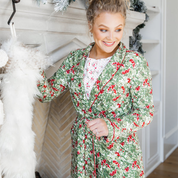 Women's Robe - Holiday Foliage