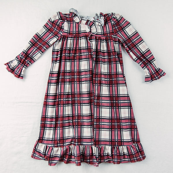 Sweet Ruffled Robe - Red Plaid