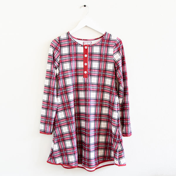 Women's Gown - Red Plaid