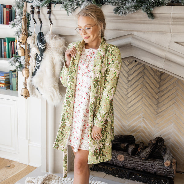 Women's Robe - Twinkle Trees