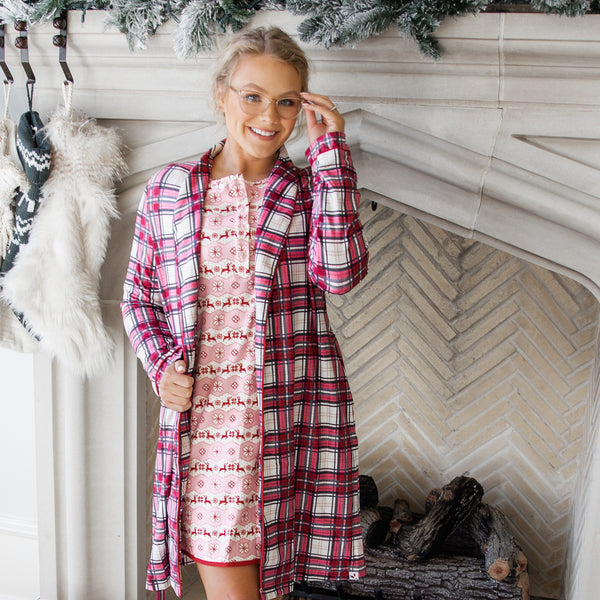 Women's Robe - Red Plaid