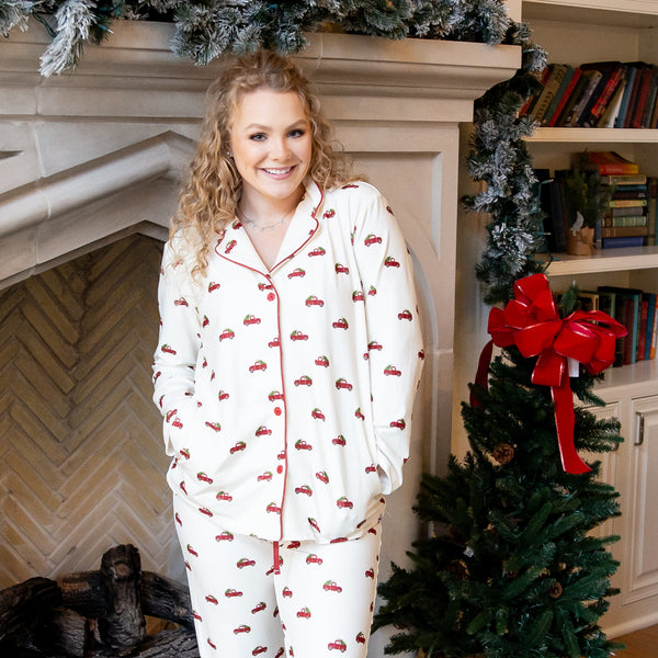 Womens Cozy PJs - Red Truck