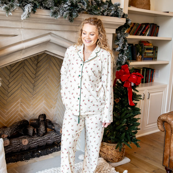 Womens Cozy PJs - Holly Days