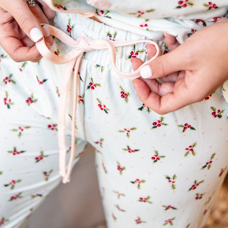 Womens Cozy PJs - Blue Holly
