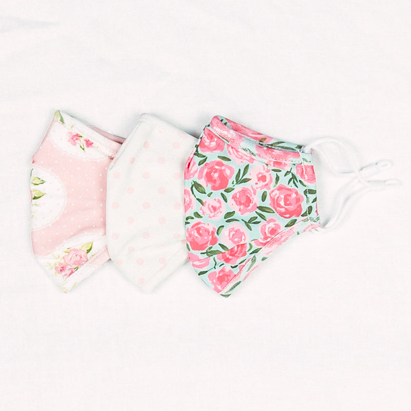 Mask 3 Pack - Covered in Roses, Pink Dotty, Kiwi Roses