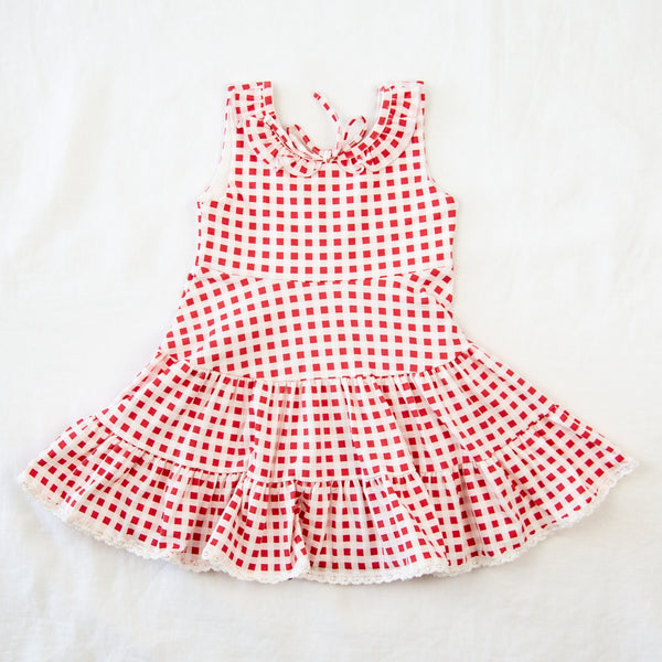 Flair Dress - Sweet Red Check