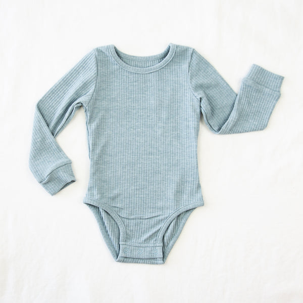 Lanie LS Layering Bodysuit - Dusty Blue