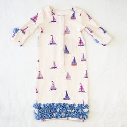 Dreamer Infant Gown - Let's Go Sailing