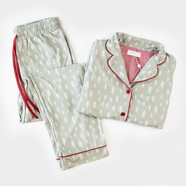 Women's Cozy PJ - Sage Trees