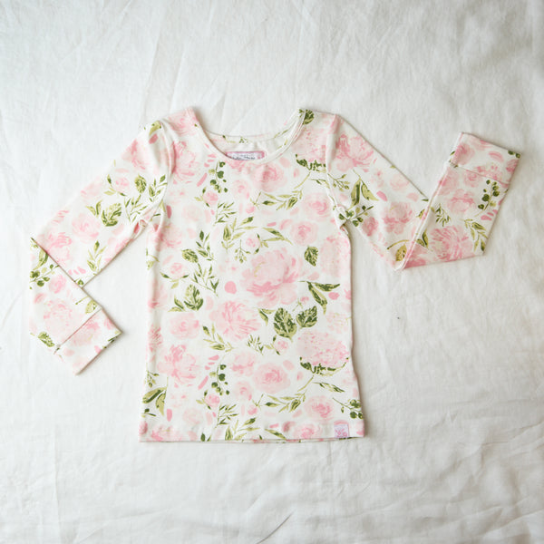 Lanie Layering Top - Swifting Floral Kiwi