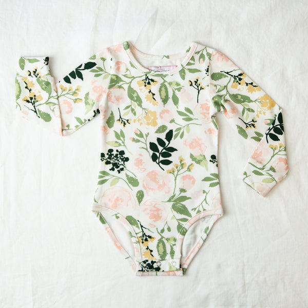 Lanie Layering Bodysuit - Fresh Natural Blooms