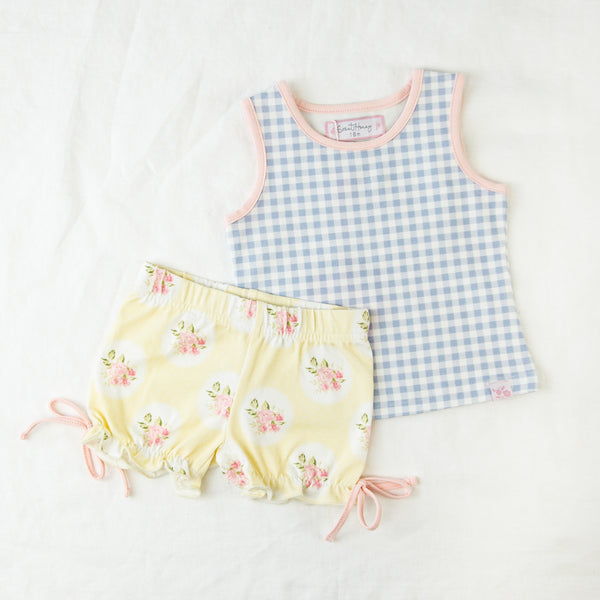 Playsuit - Blueberry Gingham
