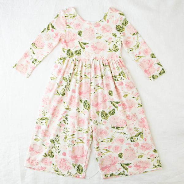 Leggy Sleeved Romper - Swifting Floral Kiwi