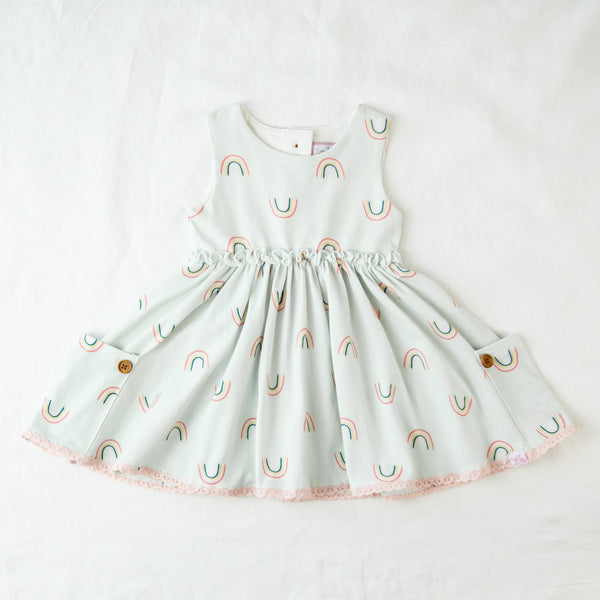 Hazel Dress - Painted Rainbow Mint