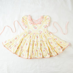Flair Dress - Framed Kiwi Roses