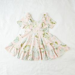 Flair Dress - Butterfly Kisses Rose